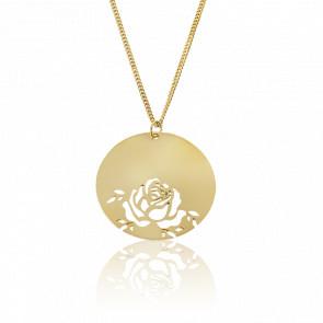 Collar Fay Rosa Chapado en Oro