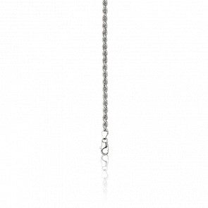 Cadena Cuerda 50 cm Plata