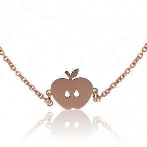 Collar Apple Chapado en Oro Rosa