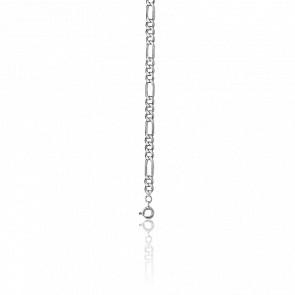 Cadena Figaro 1-3, 60 cm Plata