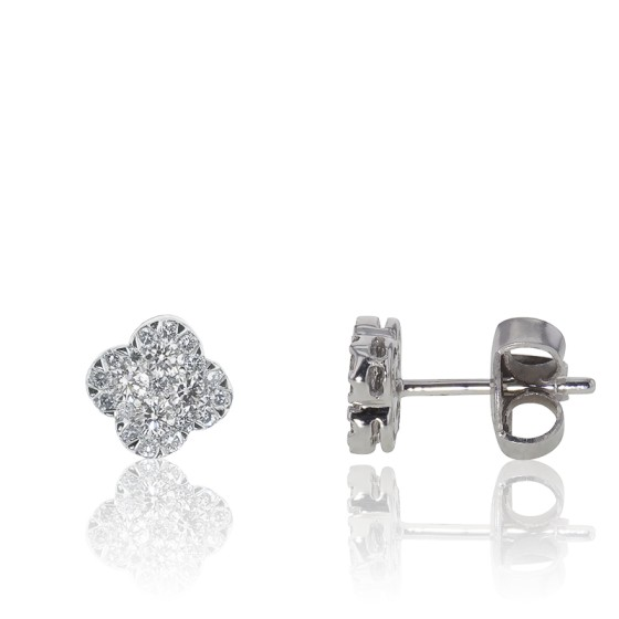 9af94c32a28f Pendientes de Oro y Diamantes diseño de flor - Divine - Ocarat