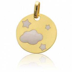 Colgante Cielo con estrelals Oro Amarillo