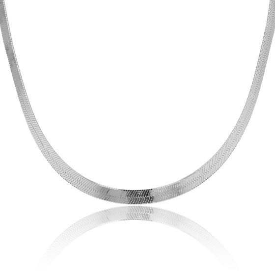 tienda de liquidación 710ba 7f96b Collar de plata cadena tipo espejo de Artemis - Ocarat
