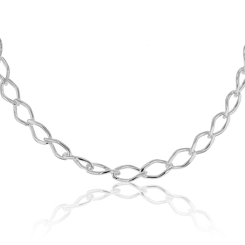8c0ef2960bdd Collar de Plata diseño de Cadena Barbada - Artemis - Ocarat