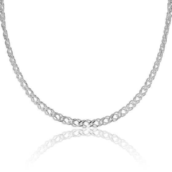 6ce9fe1a408e Collar de Plata Cadena tipo Doble Barbada - Artemis - Ocarat