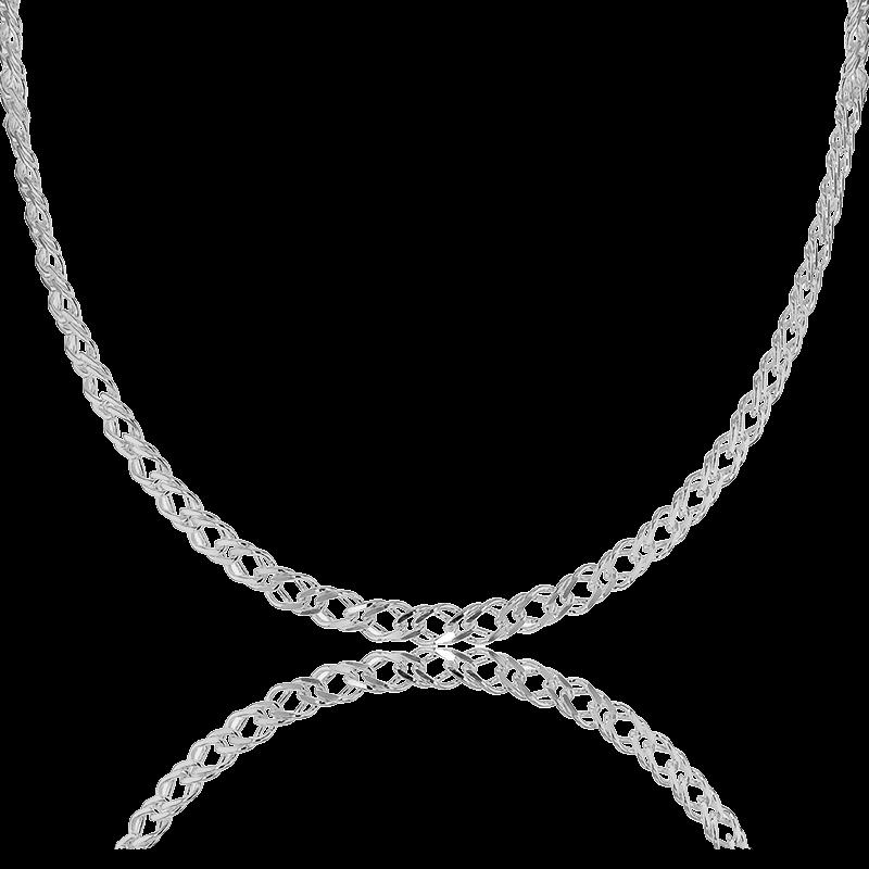 0905849a6745 Artemis Collar Plata Doble Cadena Barbada
