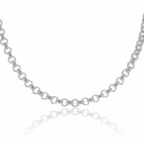 Collar de Plata Cadena Rolo