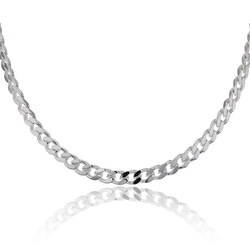Collar De Plata Cadena Tipo Barbada De Artemis Ocarat