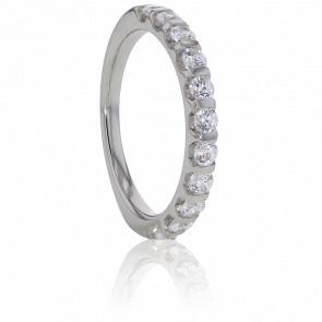 Alianza Platino y Diamantes G/SI 0,15 ct, Banquo
