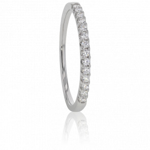 Alianza Oro Blanco y Diamantes G/VS 0,15 ct, Audley