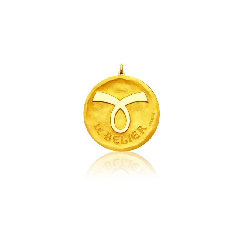 Medalla Zodiaco Símbolo Aries
