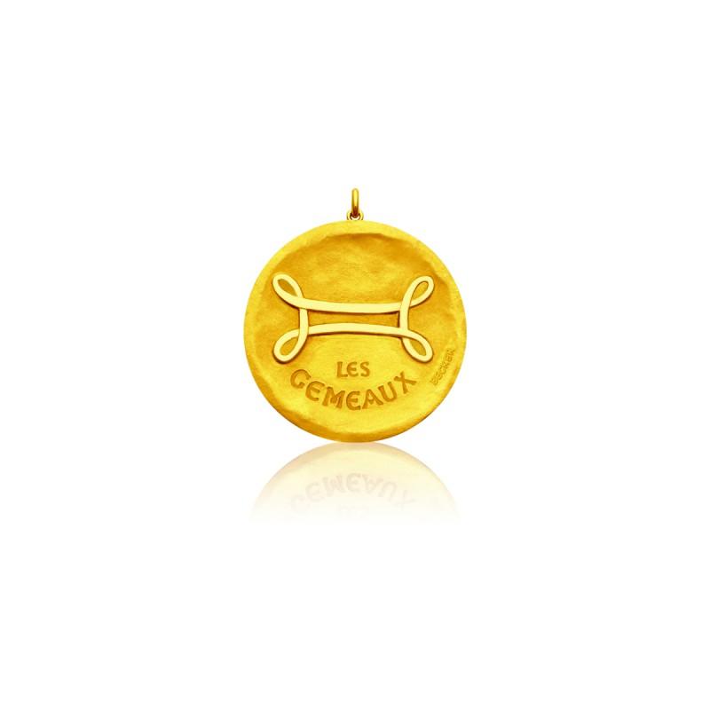 Medalla Zodiaco Símbolo Géminis