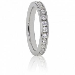 Alianza Platino y Diamantes G/SI 0.50 ct, Cinna