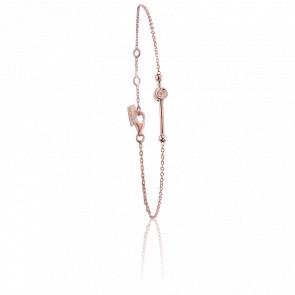 Pulsera Swing Bañada en Oro rosa & Diamantes