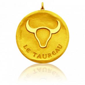 Medalla Zodiaco Símbolo de Tauro