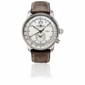 Reloj 100 Jahre Zeppelin Doble Hora y Fecha en Gran Formato 7640-1