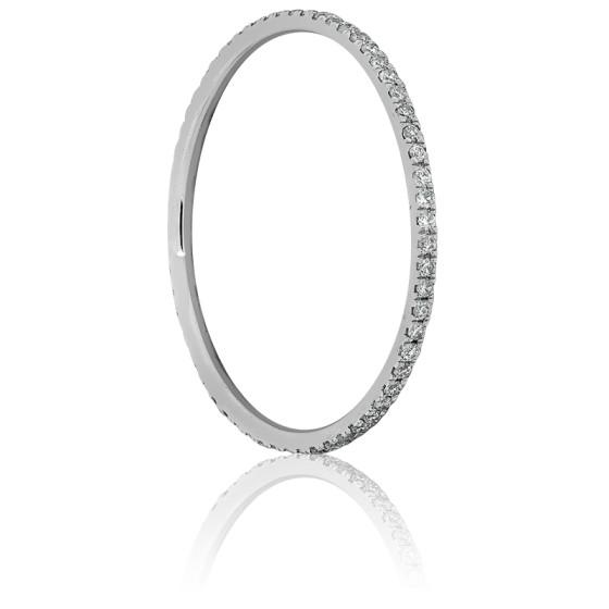 14d04f635329 Alianza Oro Blanco y Diamantes 0.18 ct