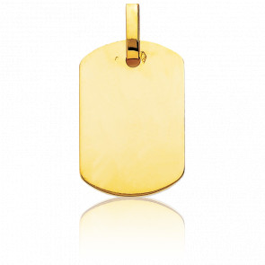 Colgante Placa G.I 19 x 27 mm de oro 18 quilates