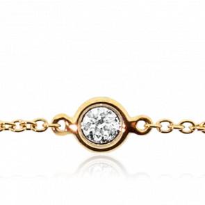 Pulsera Diamante Chatón Oro Amarillo