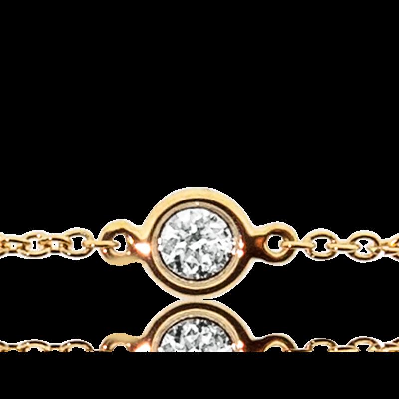 7a959b980288 Pulsera de oro amarillo y Diamante Chatón - Orphée - Ocarat