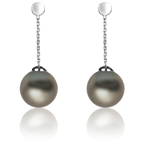a8ff4504fe23 Pendientes con perlas Tahití y oro modelo Rava de Poema - Ocarat