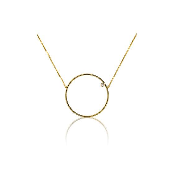 fae6de984940 Collar de Oro Amarillo 18k y Diamante de 0.02ct - Ocarat