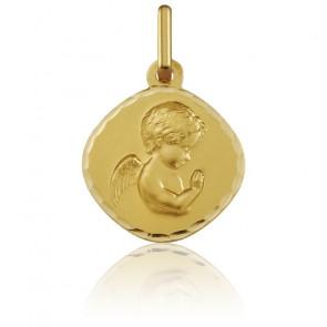 Medalla Oro Amarillo de 18k Ángel Rezando