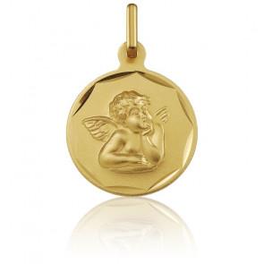 Medalla Oro Amarillo 18k Ángel de Rafael