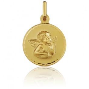 Medalla Oro Amarillo 18k Ángel Rafael