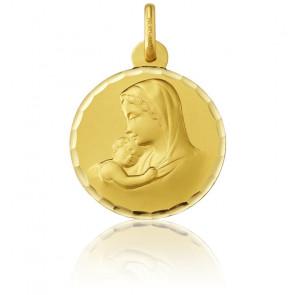 Medalla Oro Amarillo 18k Madona