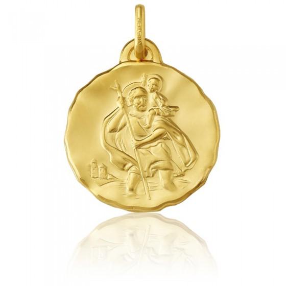 fbb9dfb88b1f Medalla San Cristóbal de oro amarillo 18K - Ocarat