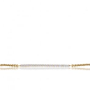 Pulsera Barrette Diamantes Oro Amarillo