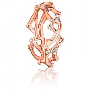 Alianza Oro Rosa 18k y 0,20ct de Diamantes, Jardin Secret