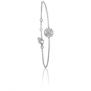 Pulsera Mini Encaje Plata & Diamante