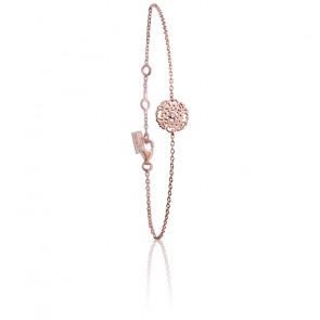 Pulsera Mini Encaje Bañada en Oro Rosa & Diamante