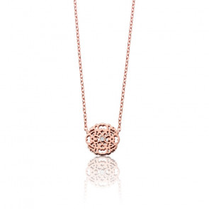 Collar Mini Encaje Bañado en Oro rosa & Diamante