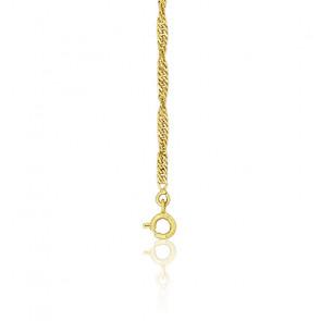 Cadena cuerda Singapour 50cm Oro Amarillo