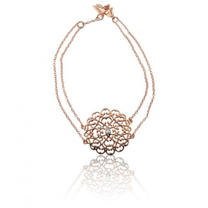 Pulsera Encaje Mediano Bañado en Oro rosa & Diamante