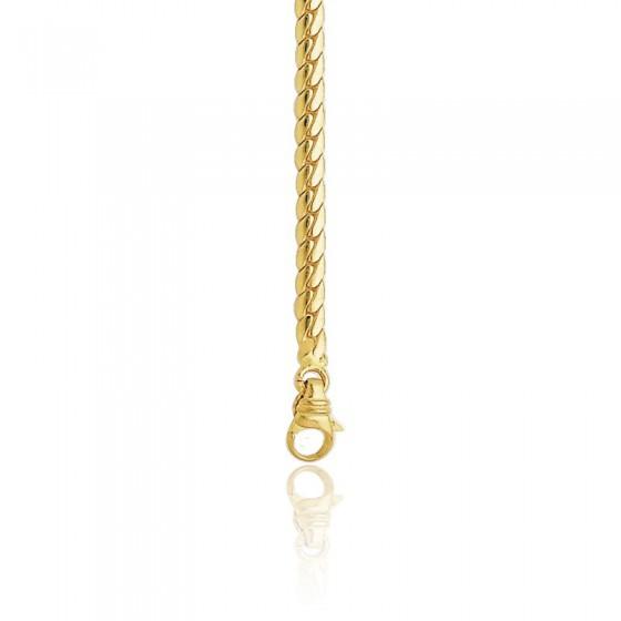 36eb27b96578 Cadena inglesa hueca 50cm Oro Amarillo 18k - Ocarat