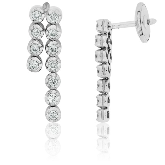 234e7546c75c Pendientes oro blanco y pavé diamantes - Ocarat