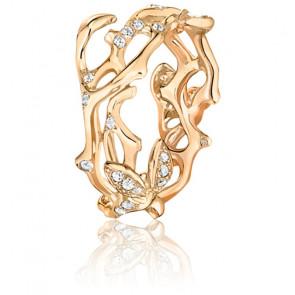 Alianza Oro Amarillo 18k con 0,35ct de Diamantes, Jardin Secret