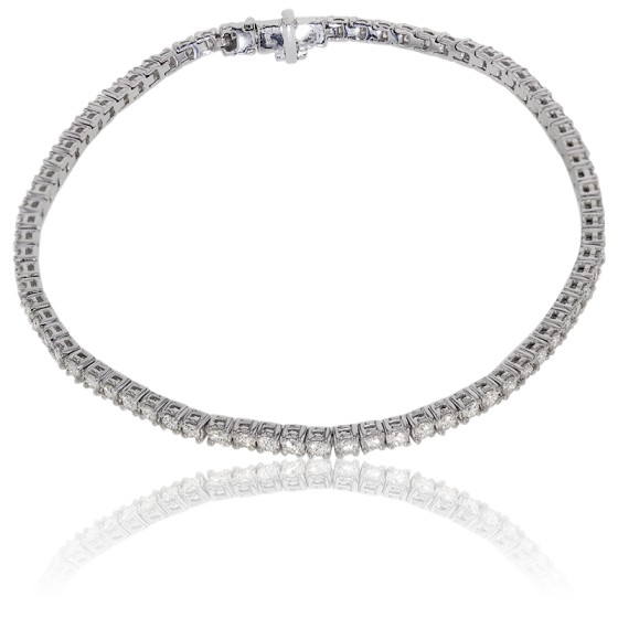 Pulsera oro blanco diamantes precio