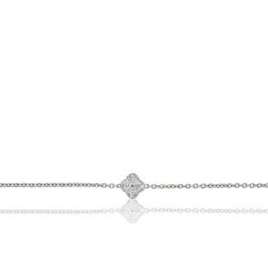 Pulsera Nixie Oro Blanco y Diamantes 0,25 ct