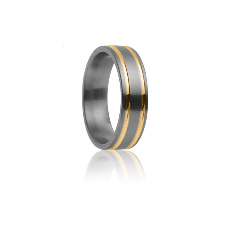 Alianza Théia Titanio y Oro amarillo 7mm– Aurodesign