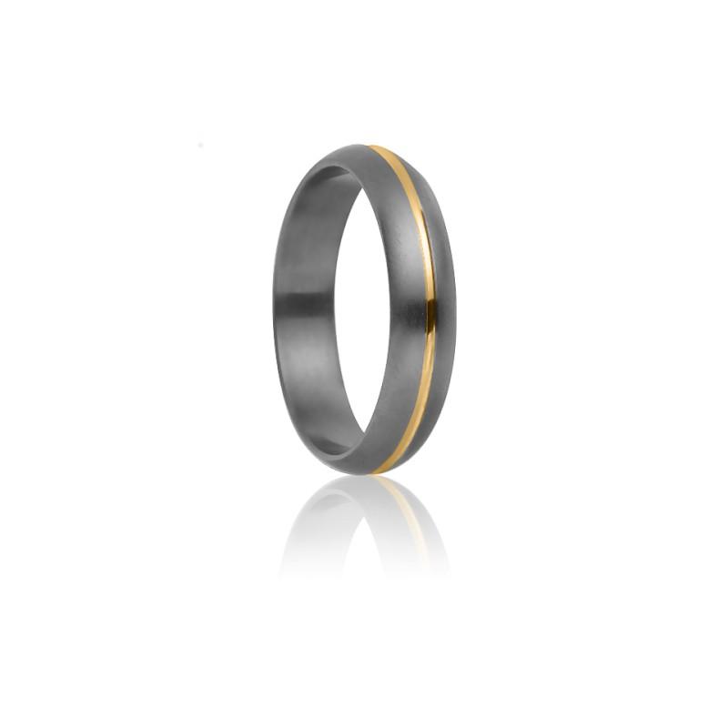 Alianza Rhésos Titanio y Oro amarillo 4mm– Aurodesign