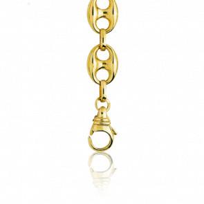 eaadfcffcde7 Manillon Pulsera Calabrote Hueca 18 cm Oro Amarilo 18k. Pulsera de cadena de  calabrote de oro amarillo.
