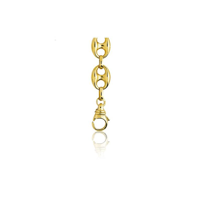3287e8966345 Pulseras de cadena de oro amarillo