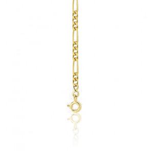 Pulsera Cadena 22 cm Figaro 1x3 Oro Amarillo