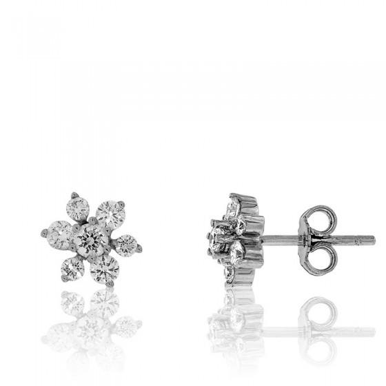 59f7f2162e05 Pendientes estella Oro Blanco con Diamantes - Juweel - Ocarat