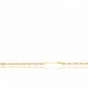 Pulsera Personalizable 16 cm de Oro Amarillo con Cadena Bilbao 1x1